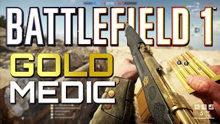 Battlefield 1: Flawless Gold Medic on Turning Tides DLC - 4K PS4 PRO Multiplayer Gameplay