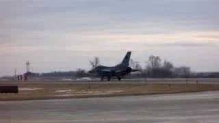 132nd F-16 Fighter Wing Take Off from KDSM
