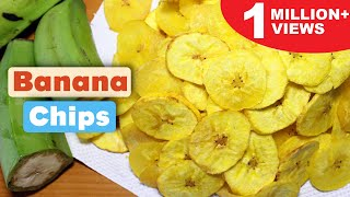How to Make Banana Chips | Homemade Banana Chips Recipe | Kanak's Kitchen