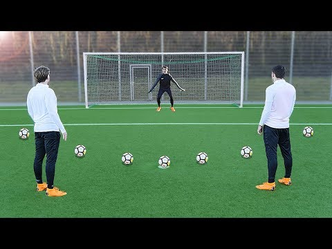 freekickerz vs Kingsley Coman (FC Bayern Munich) - Penalty Football Challenge