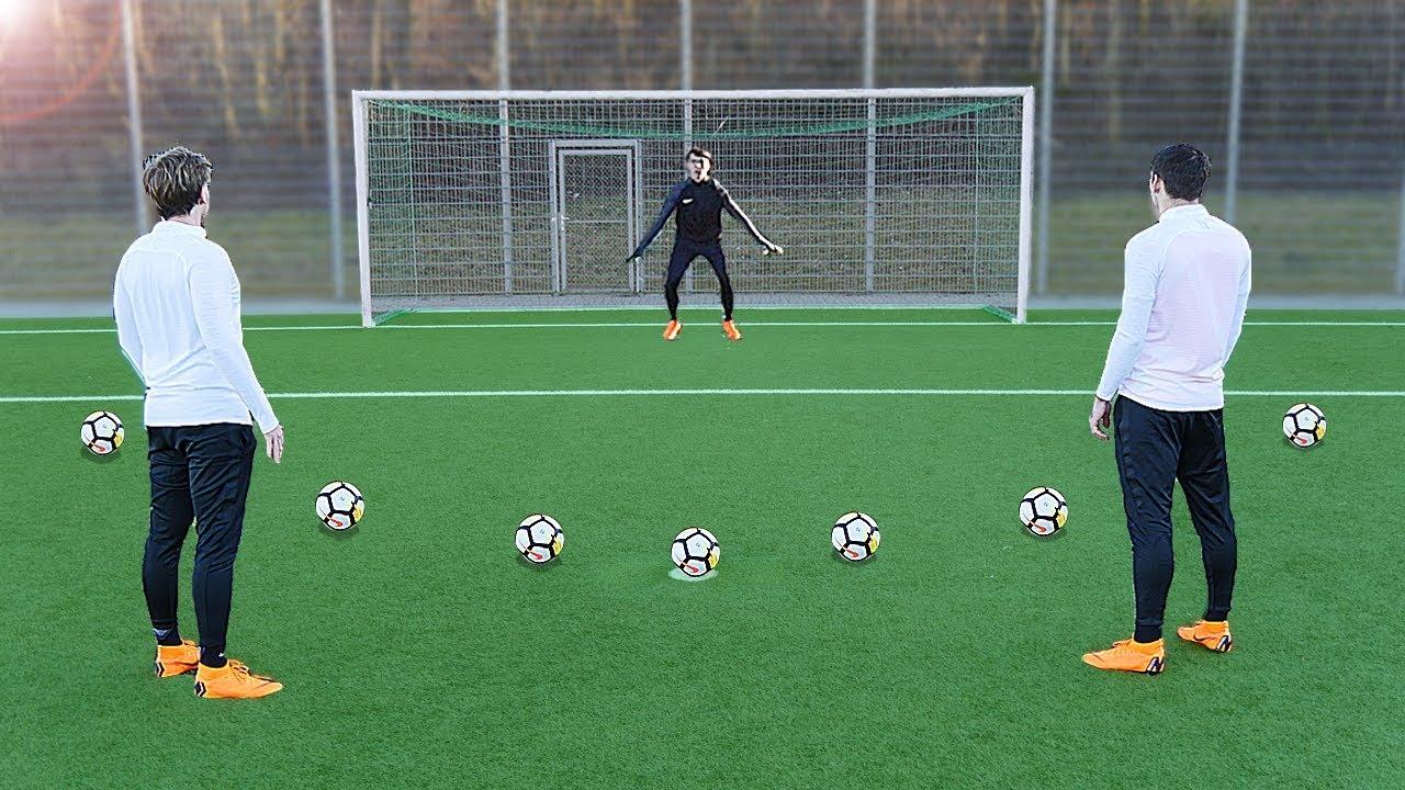 Download freekickerz vs Kingsley Coman (FC Bayern Munich) - Penalty Football Challenge