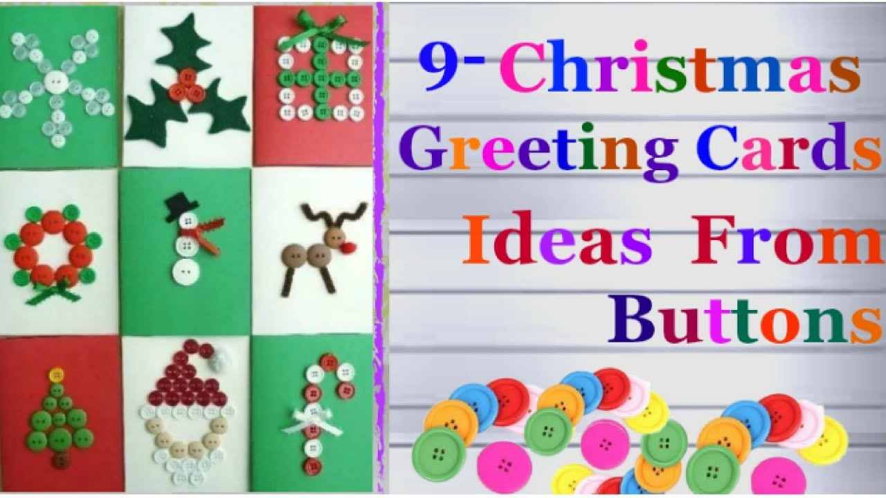 Diy 9 Easy Christmas Greeting Card Ideas From Buttons Homemade