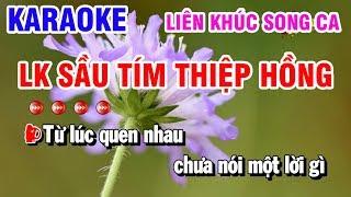 Karaoke | LK Song Ca Sầu Tím Thiệp Hồng | Đường Tình Đôi Ngã | Karaoke Thanh Hải