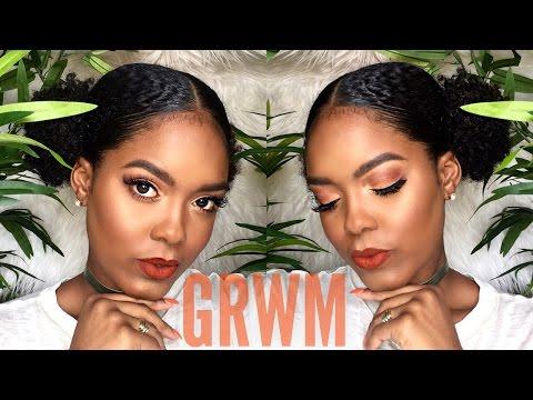 GRWM | Orange Summer Slay + Double Puff Hair Tutorial