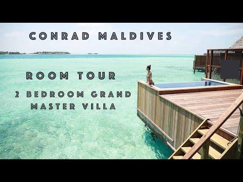 CONRAD MALDIVES 2 BEDROOM GRAND WATER VILLA WITH JACUZZI ROOM TOUR