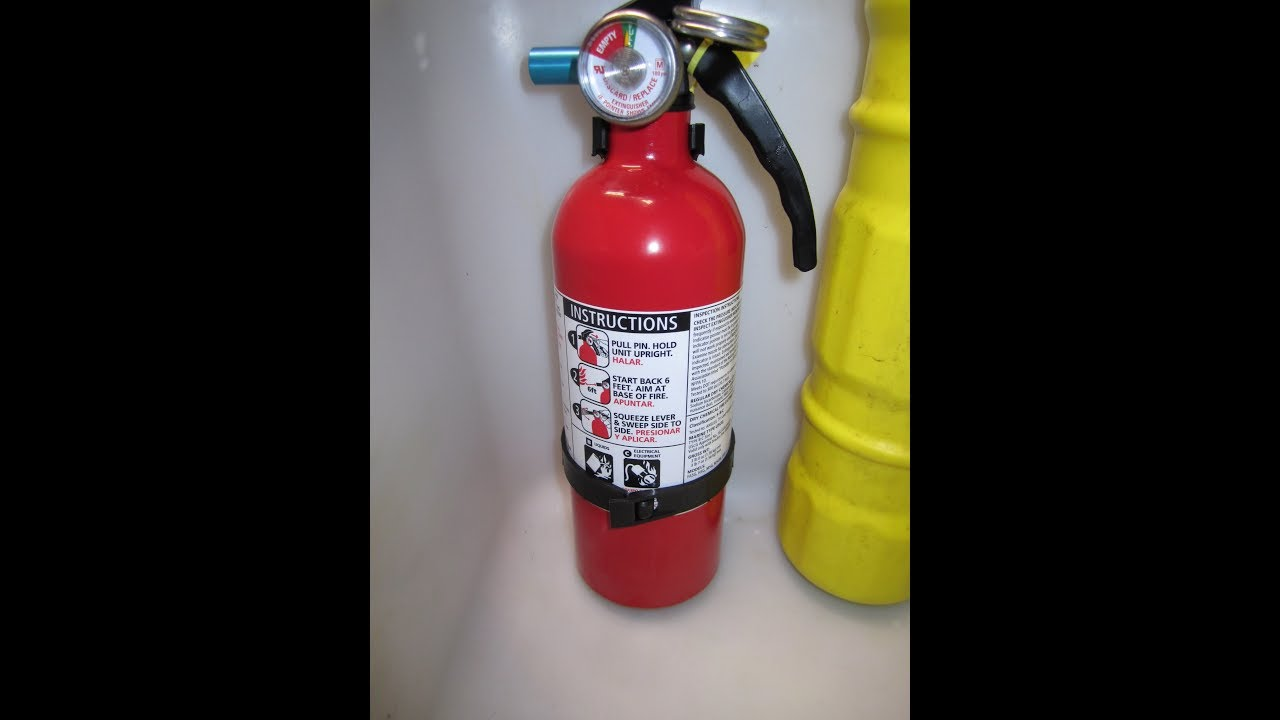 kidde kitchen fire extinguisher double sink how to mount a new in kawasaki pwc jet ski