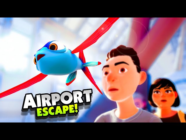 Escaping the AIRPORT As A FLYING FISH - New I Am Fish Gameplay