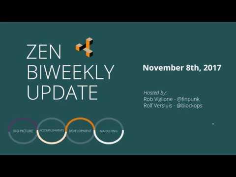 ZenCash двунедельный апдейт: 08/11/2017