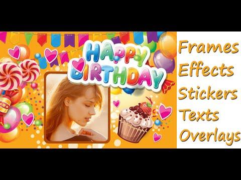 birthday photo frames collage youtube