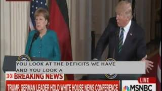 Trump and German Reporter Exchange Insults During Press Conference