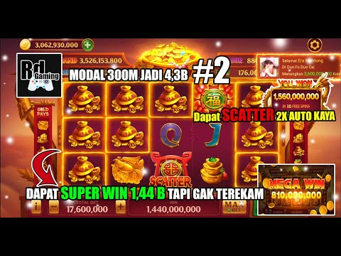 PART 2, Main Bet Dari 4,4 M Jadi Max Bet Modal 300M Jadi 4,3B│Higgs Domino Game Indonesia