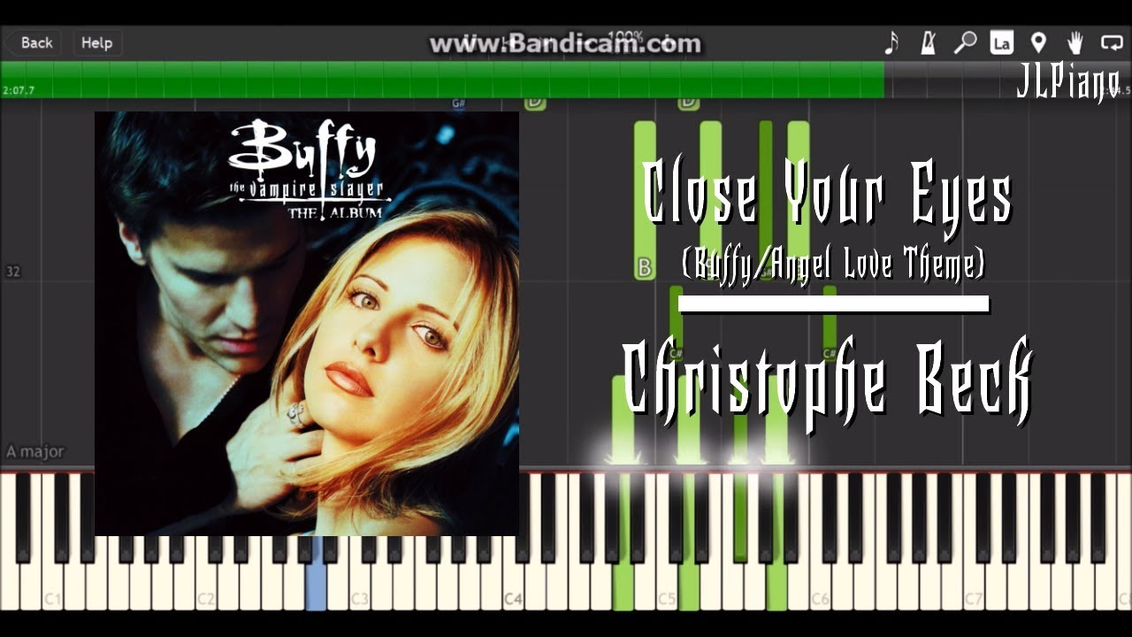 close your eyes - buffy  angel love theme  synthesia piano solo   sheet music