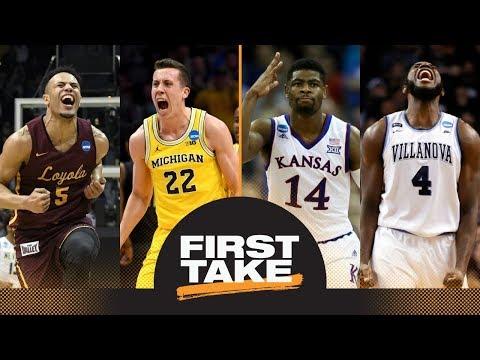 First Take Previews Final Four: Loyola Vs. Michigan And Kansas Vs. Villanova | First Take | ESPN