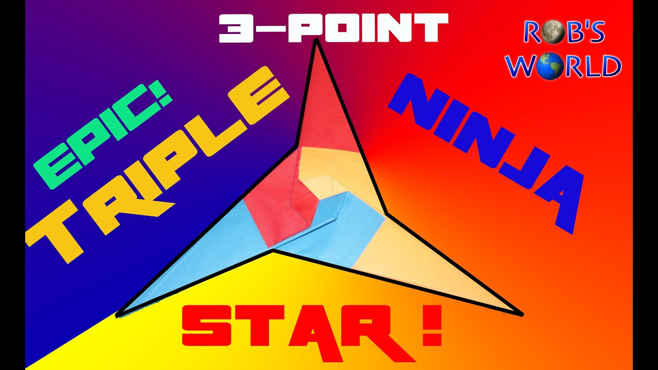 How to make an epic triple ninja star tri star robs world tri star robs world youtube jeuxipadfo Image collections