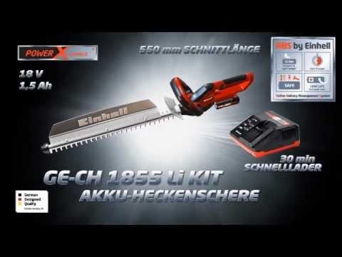 Einhell GE-CH 1855//1 Li Kit Akku-Heckenschere Power X-Change mit 18V//2,0Ah Akku