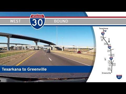 Interstate 30 - Texarkana to Greenville - Texas |  Drive America's Highways 🚙