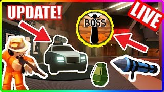 THE JAILBREAK UPDATE IS OUTTT!!!!! | Roblox Jailbreak Live