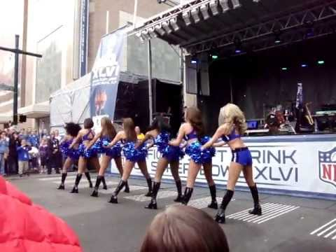 Colts Cheerleaders-Super Bowl XLVI