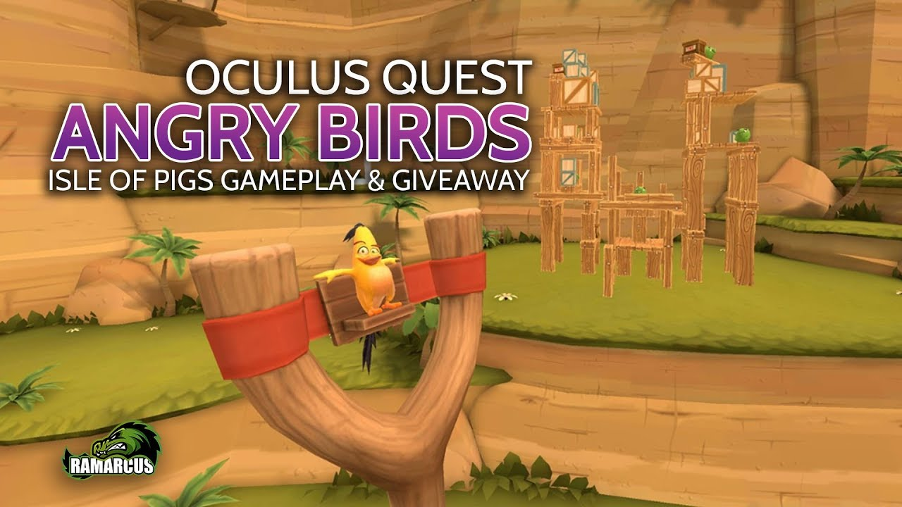 Oculus Quest // Angry Birds: Isle of Pigs Gameplay and Giveaway - YouTube