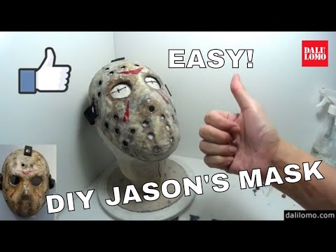 DIY Jason Voorhees Friday the 13th Hockey Mask using Newspaper