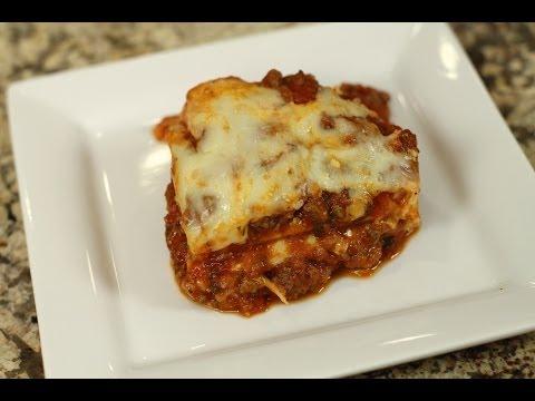 Lasagna With Meat Sauce Make Jar Sauce Taste Homemade by Rockin Robin