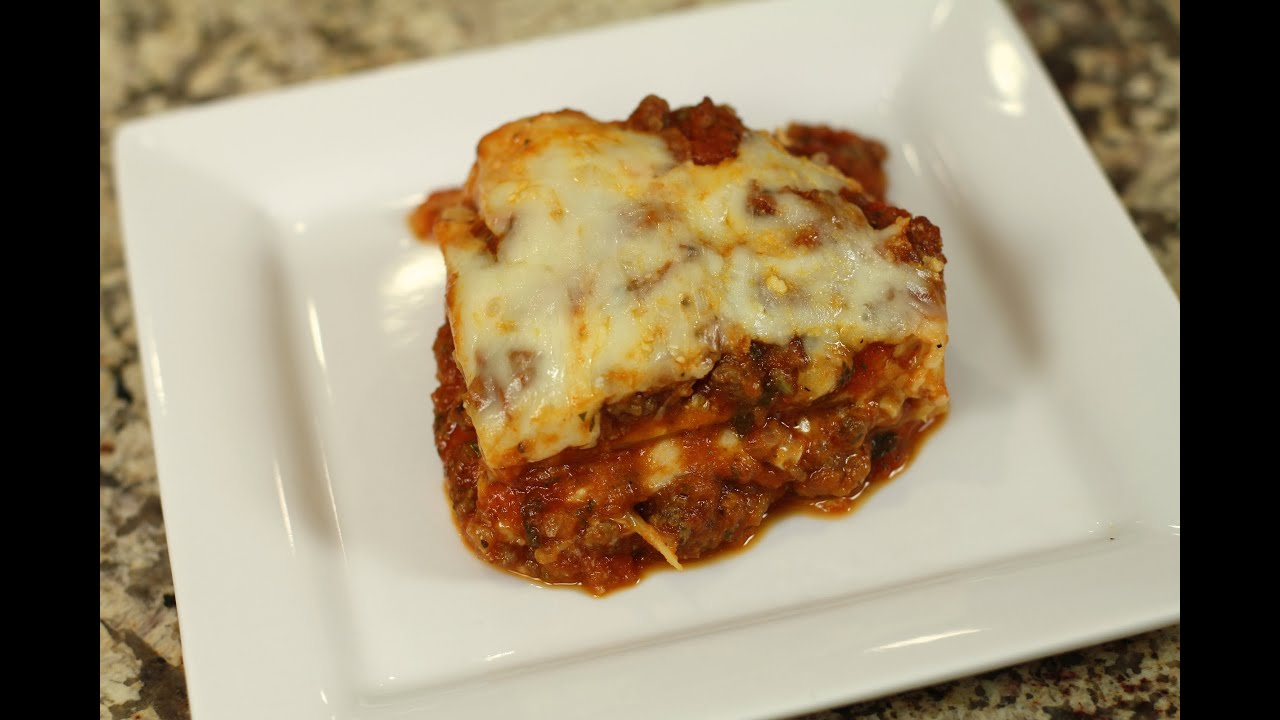 Lasagna With Meat Sauce Make Jar Sauce Taste Homemade By Rockin Robin Youtube