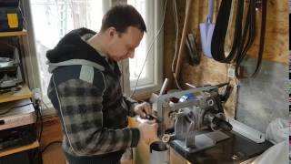 Заточення ножа на гриндере від Чапая