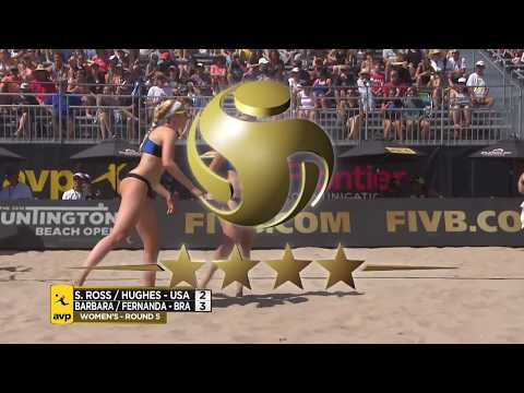 2018 FIVB Huntington Beach Open: Ross/Hughes Vs. Barbara/Alves