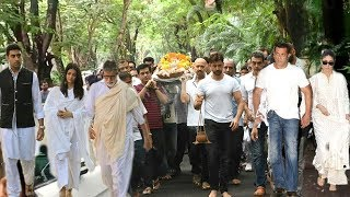 Salman Khan Aishwarya Amitabh Bachchan Kareena & Many Celebs @Hritik Roshans Grandfather LA$TR!TUAL