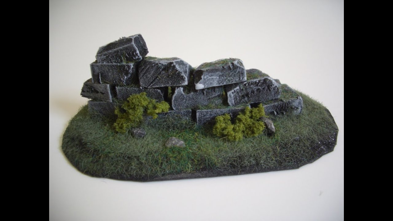 Wargames Terrain Ruins Part 1 Tutorial Guide Youtube