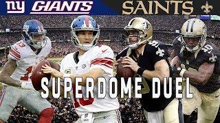 """The Superdome Duel"" (Giants vs. Saints, 2015)   NFL Vault Highlights"