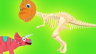 Dinosaurios en Problemas! Divertidos Dibujos Educativos para Niños sobre Dinosaurios