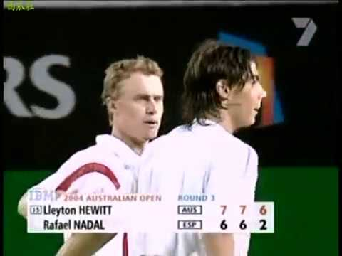 Lleyton Hewitt vs Rafael Nadal - 2004 Australian Open R32 - Highlights