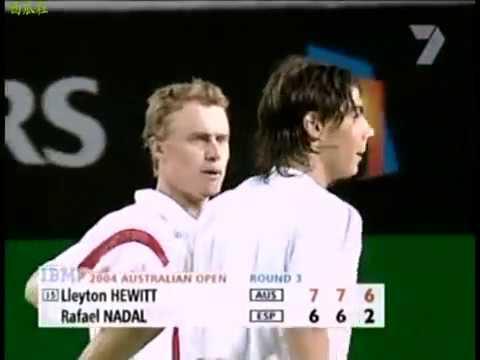Lleyton Hewitt vs Rafael Nadal - 2004 Australian Open R32 - Highlights