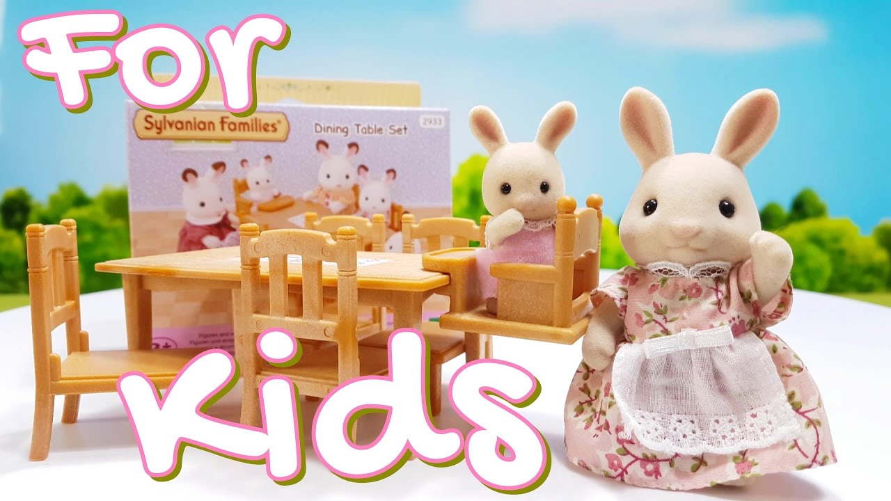 Calico Critters Sylvanian Families Dining Table Set