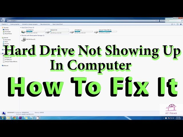 Hard Drive Not Showing Up In Computer | How To Fix It (For all Windows  Versions)