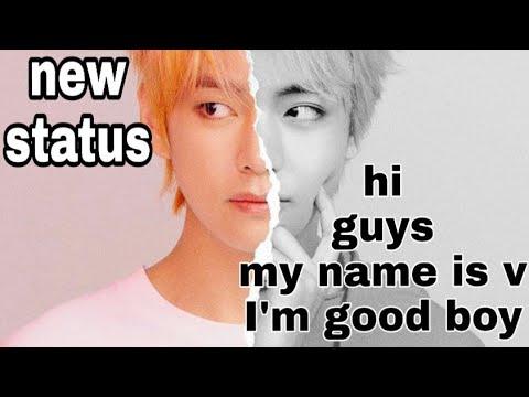 #NEW#STATUS  Hi guys my name is V  I'm good boy  atitude boys new whatsapp status