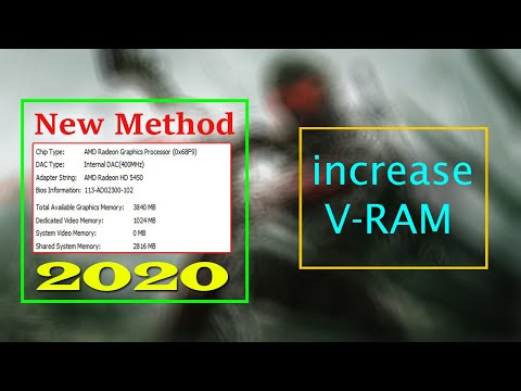 How to Increase AMD Graphics Dedicated Video Ram 1GB 2GB 3GB 4GB New Method 2020