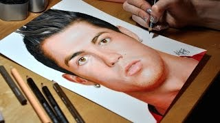 Drawing Cristiano Ronaldo(Prismacolor colored pencil drawing of Cristiano Ronaldo. My Facebook page: https://www.facebook.com/ArtistHeatherRooney Music: Colors in the Sky (Chrome ..., 2014-05-08T16:16:13.000Z)