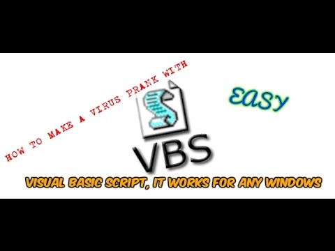 How to make a virus prank with VBS (fake virus)