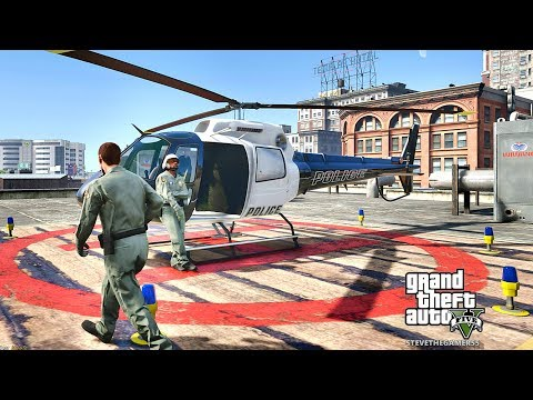 GTA 5 MODS LSPDFR 749 - AIR ONE HELICOPTER PATROL !!! (GTA 5 REAL LIFE PC MOD)