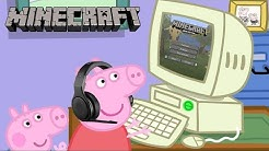 Peppa Pig Plays Minecraft
