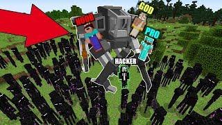 Minecraft - NOOB vs PRO vs HACKER vs GOD  SUPER ROBOT TITAN vs Enderman in Minecraft Animation