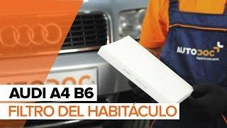 Cómo cambiar Filtro de Habitáculo en AUDI A4 B6 INSTRUCCIÓN | AUTODOC