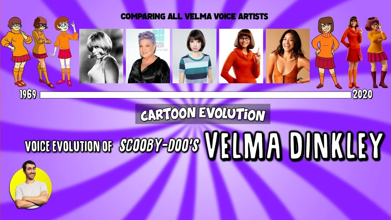 Voice Evolution Of Velma Dinkley Scooby Doo 51 Years Compared Explained Cartoon Evolution Youtube