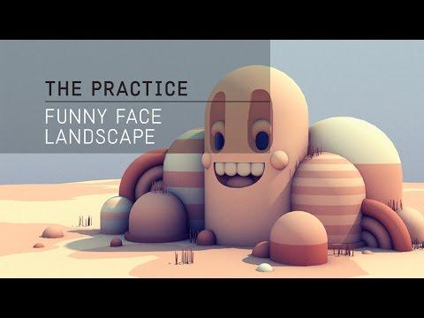 The Practice // 02 / C4d Funny Face Landscape