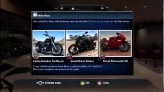 TDU2 DLC2 Bikes - First Look - Xbox 360