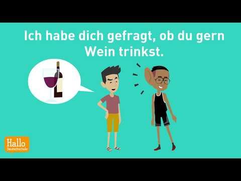 Deutsch lernen mit Dialogen / Lektion 53 / Indirekte Fragen / Personalpronomen im Dativ / Prüfung