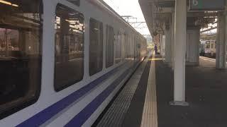 直江津駅 HK100系 発車