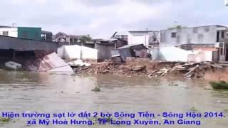 Hiện trường sạt lở đất xã Mỹ Hoà Hưng, TP Long Xuyên, An Giang - 2014.